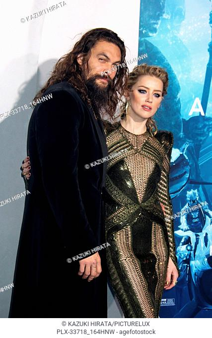 """Jason Momoa, Amber Heard 12/12/2018 """"""""Aquaman"""""""" Premiere held at the TCL Chinese Theatre in Hollywood, CA Photo by Kazuki Hirata / HNW / PictureLux"""