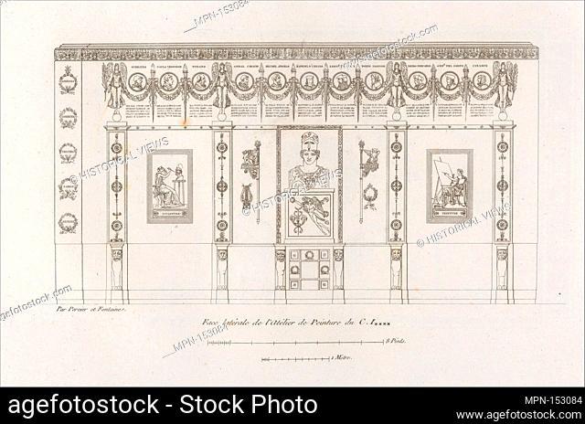 Recueil de Decorations Intérieures. Artist: Pierre François Léonard Fontaine (French, Pontoise 1762-1853 Paris); Artist: Charles Percier (French