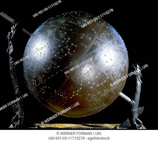 A celestial globe attributed to Shibukawa Shunkai, one of the greatest Japanese astronomers
