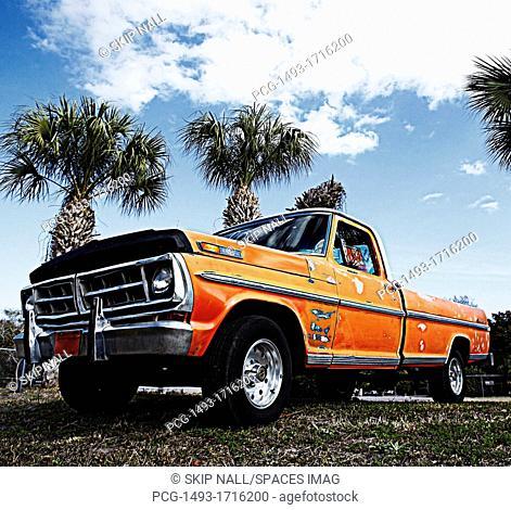Weathered Orange Truck