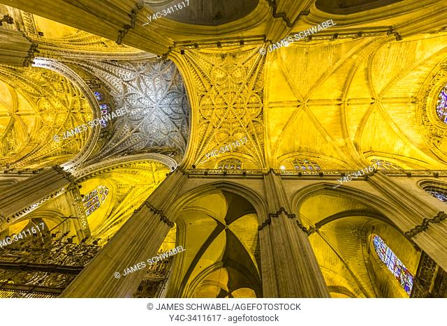 The Cathedral of Seville also known as Cathedral of Santa Maria in Seville Spain