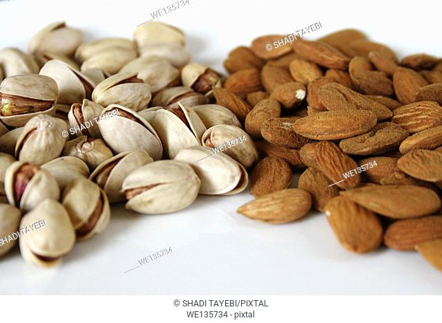 Nuts, walnut, almond