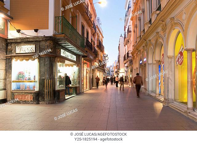 Sierpes street, Seville, Spain