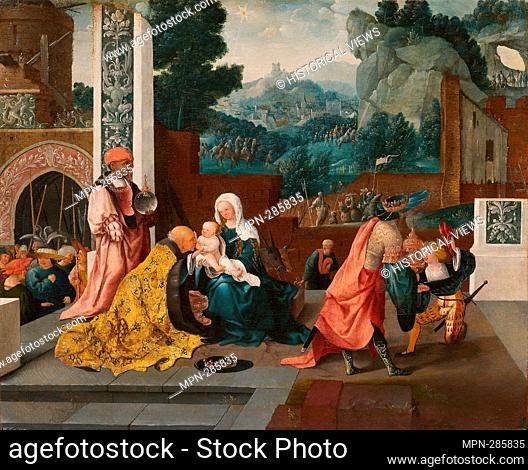 Author: Jan van Scorel. Adoration of the Magi - c. 1519 - Jan van Scorel Netherlandish, 1495-1562. Oil on panel. 1515'1525. Netherlands