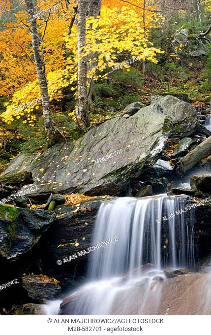 Waterfalls near Smugglers Notch in the Green Mountains of Vermont, USA