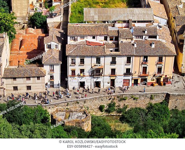 Albayzin District in Granada - famous city in Andalusia, Spain