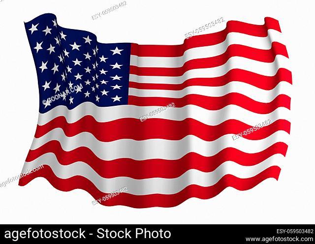 Closeup of Flag of usa