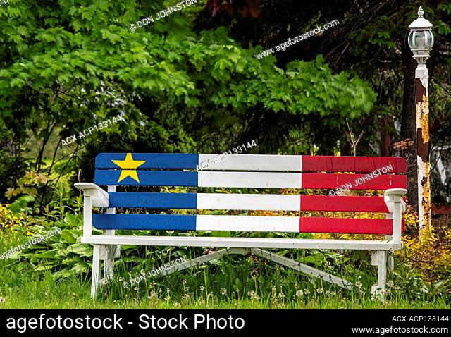 Painted Acadian colours, Caraquet, New Brunswick, NB, Canada