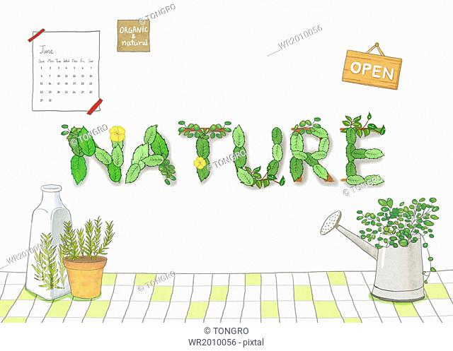 a template related to nature