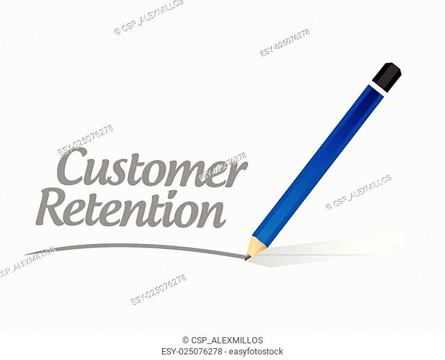 customer retention message sign