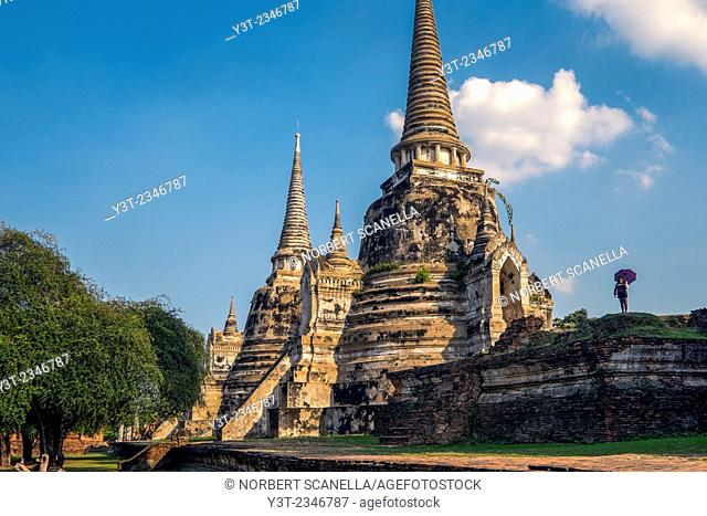 Asia. Thailand, Phra Nakhon Si Ayutthaya. Ayutthaya (old capital of Siam), classified as a World UNESCO Heritage. Wat Mahathat. Wat Phra Si Sanphet