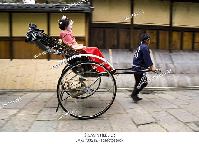 Rickshaw, Arashiyama district, Kyoto, Japan