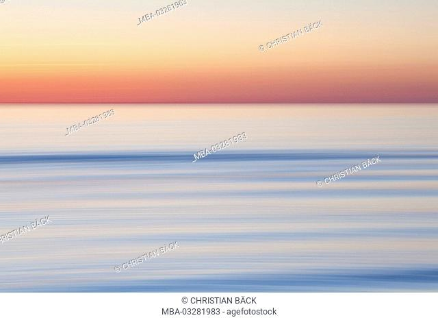 The Baltic Sea at Sunset, Schleswig - Holstein, North Germany, Germany