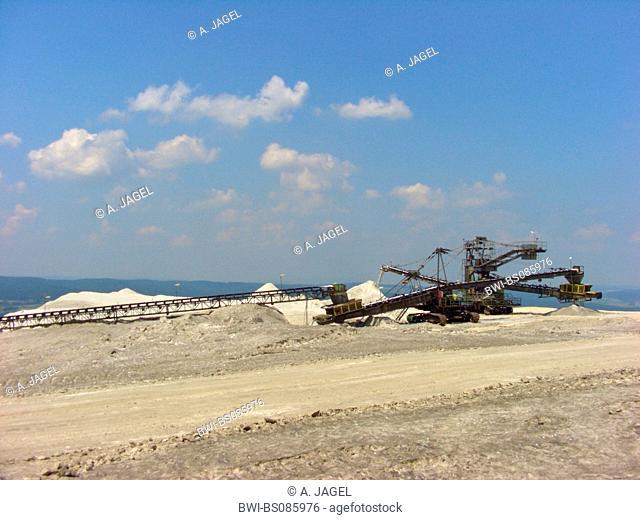 damp of potash-mining, Germany, Hesse, Werragebiet, Heringen