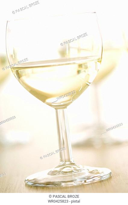 Close-up of a glass of white wine