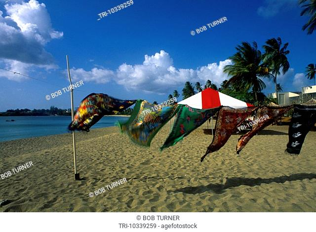 Turtle Beach Tobago Sarongs Blowing In The Wind