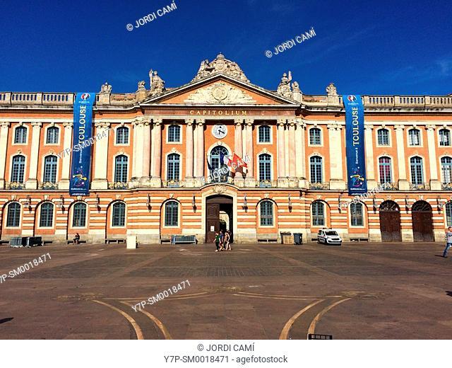 Town Hall, Place du Capitole. Toulouse.Haute Garonne.France
