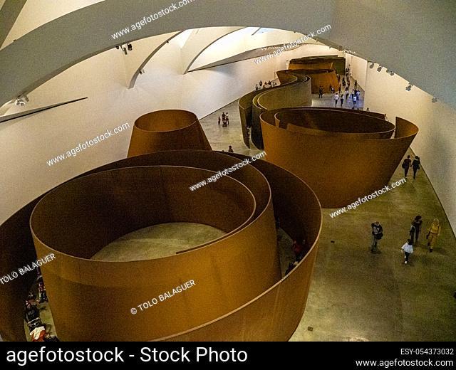 La materia del tiempo, Instalación permanente de Richard Serra, Guggenheim Museum Bilbao, siglo XX, diseñado por Frank O
