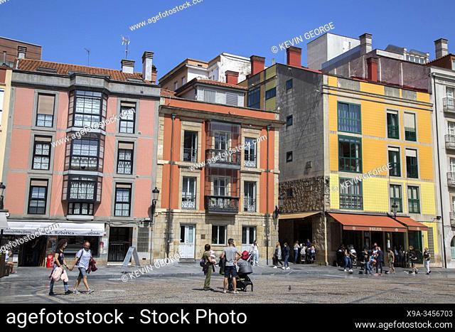 Plaza Mayor Square; Gijon; Asturias; Spain