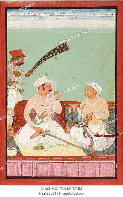Maharao Ratan Singh with courtiers, c1670. Artist: Unknown