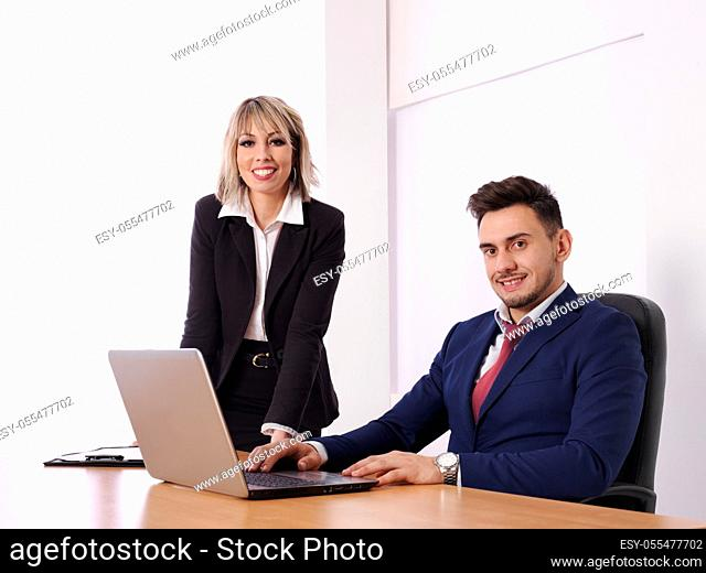 Business parsonal with positive aptitude in their jobs
