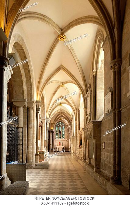 The south side aisle of Chichster Cathedral