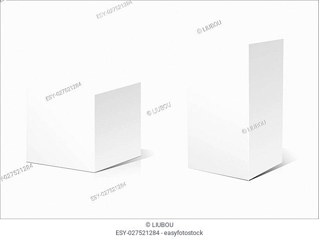 White 3D box isolated on a white background. Vector illustration for your design