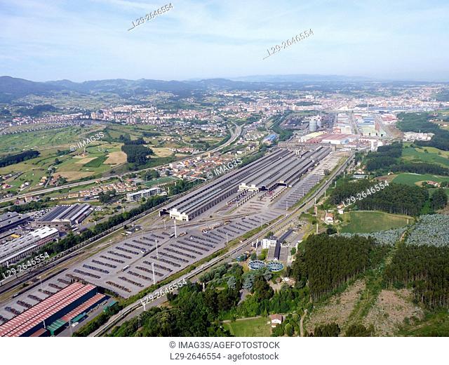 ArcelorMittal steel factory in Asturias, Spain