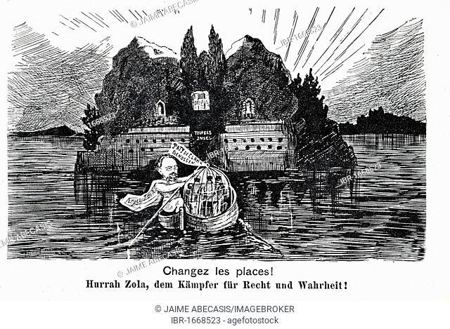 Changez les places! Hurrah Zola, dem Kaempfer fuer Recht und Wahrheit!, Change places! Hooray for Zola, the fighter for justice and truth!, Dreyfus affaire