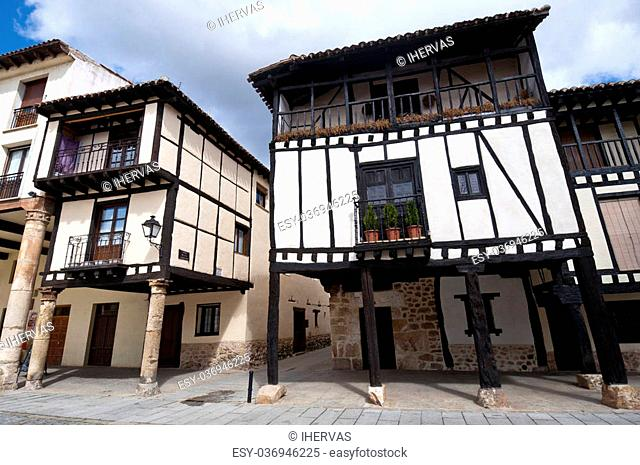 Traditional houses in Covarrubias, Burgos Province, Spain