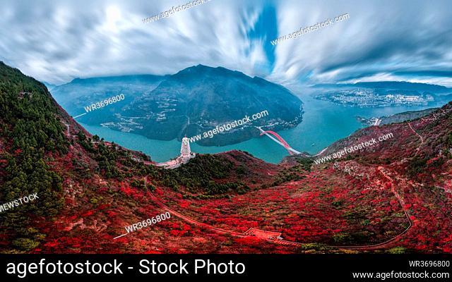 Chongqing three gorges scenery