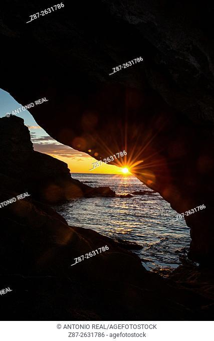 Playa de Los Escullos, Parque Natural del Cabo de Gata, Almeria province, Andalusia, Spain