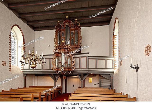 Germany, Schleswig-Holstein, Groß Grönau, St. Willehad Church, organ