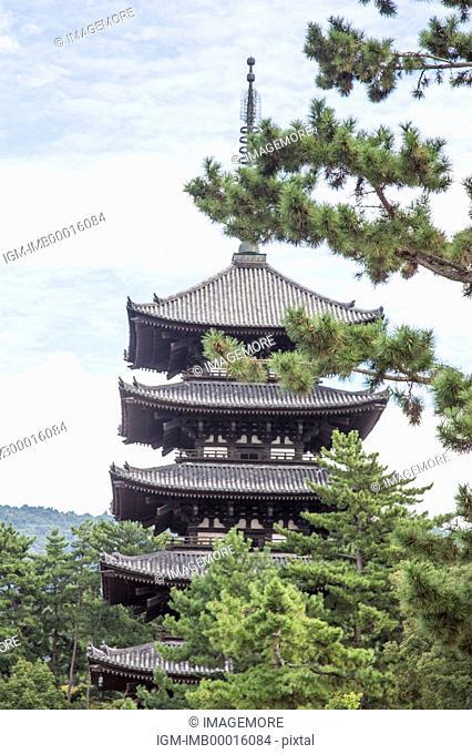 Kofuku-ji Temple, Nara Prefecture, Kinki, Japan, Asia