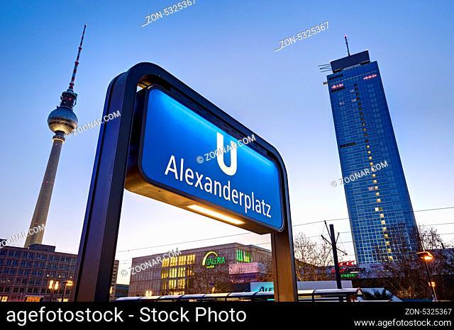 Subway entrance at Alexanderplatz, Berlin, Germany