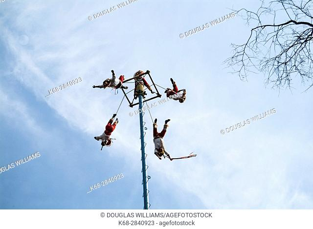 Mexico City, Mexico, The Dance of the Flyers, Voladores de Papantla (Papantla Flyers), in Chapultepec Park