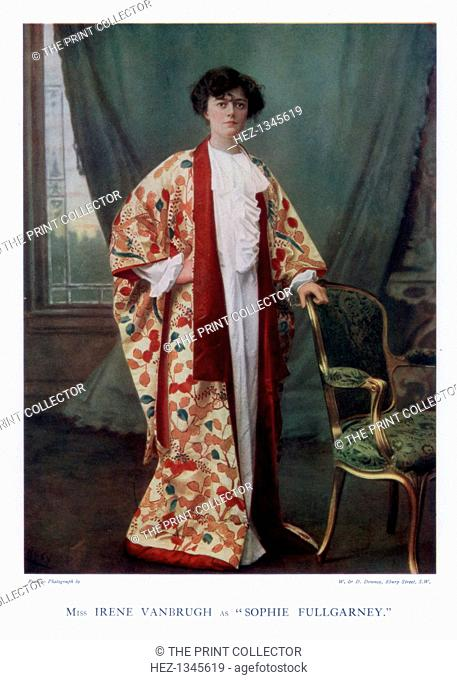 Dame Irene Vanbrugh, English actress, 1901. Pictured in the role of Sophie Fullgarney in The Gay Lord Quex by Arthur Wing Pinero