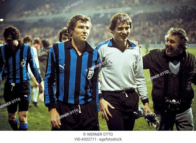 football, UEFA Cup, Europa League, 1979/1980, preliminaries, second round, first leg, Stadium am Boekelberg, Borussia Moenchengladbach versus Inter Mailand 1:1