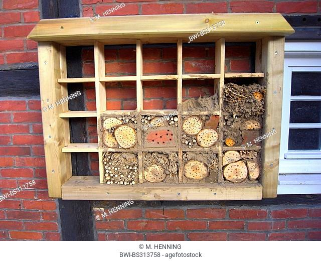 insect hotel for wild bees, Germany