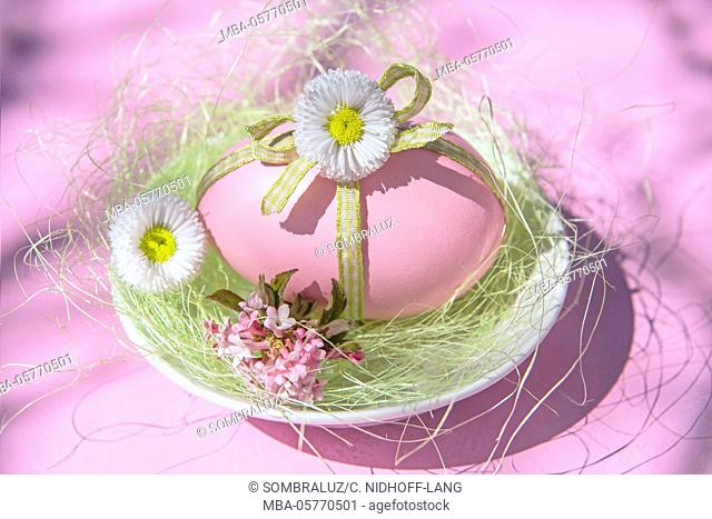 Easter egg with southern daisy