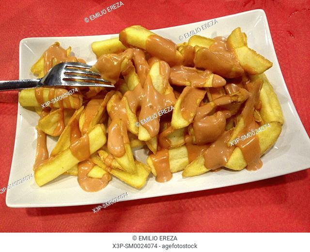 Patatas bravas. Typical dish from Spain