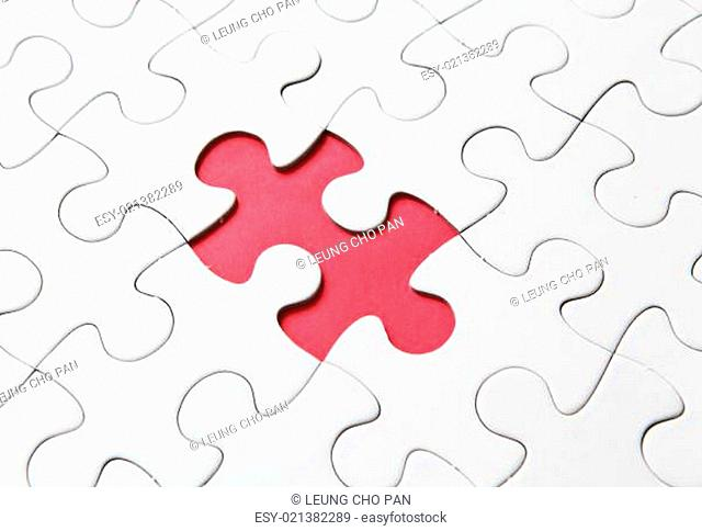 missing red puzzle piece