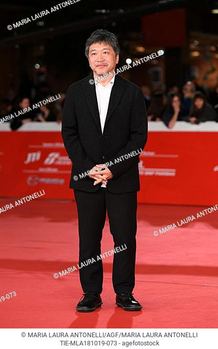 The director Hirokazu Kore'eda during the red carpet of film Motherless Brooklyn at the 14th Rome Film Festival, Rome, ITALY-17-10-2019