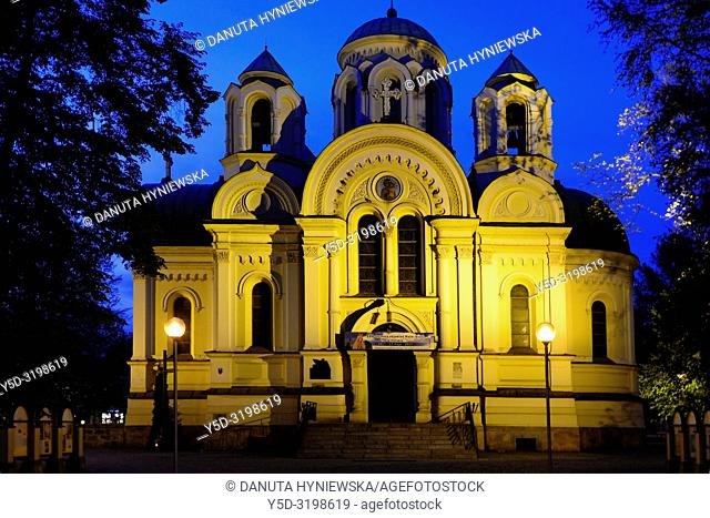 Church of St James, Roman Catholic Church now, previously (until 1946) Orthodox Church of Saints Cyril and Methodius (1872), built in Byzantine style
