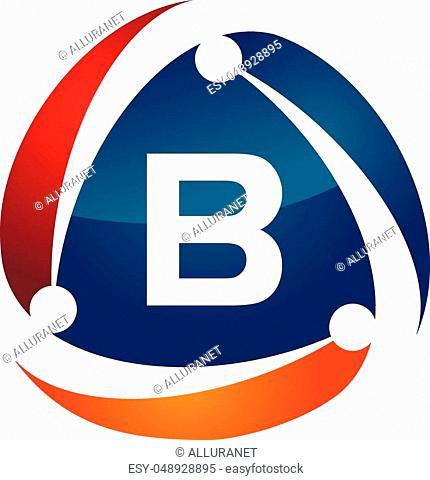 Online Marketing Business Distribution Technology Letter B