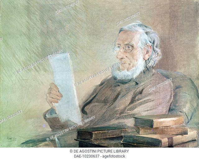 Portrait of John Tyndall (Leighlin Bridge, 1820-Hindhead, 1893), Irish physicist.  London, National Portrait Gallery