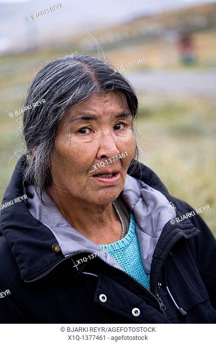Woman, Narsaq, South Greenland