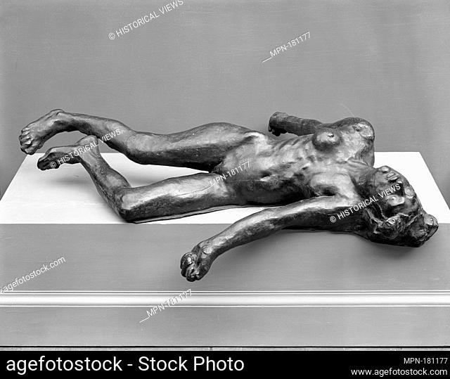 The Martyr. Artist: Auguste Rodin (French, Paris 1840-1917 Meudon); Date: modeled 1885; Culture: French; Medium: Bronze; Dimensions: Length: 61 1/2 in