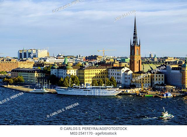 View of Gamla Stan , old town, from Sodermalm distric,tStockholm, Sweden