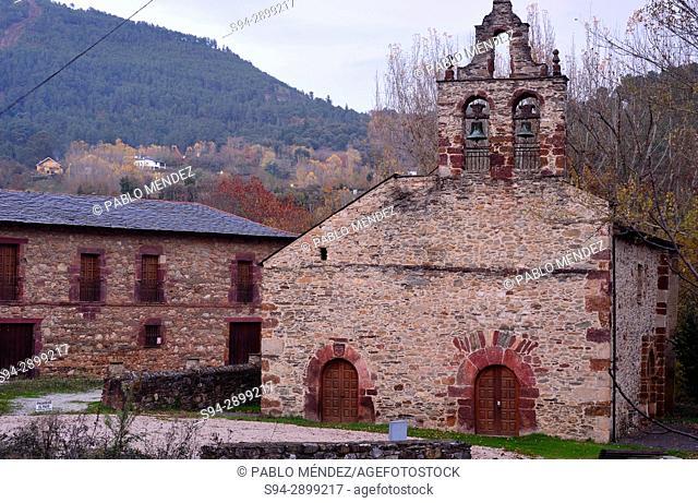 Monastery and church of San Miguel in Xagoaza, O Barco de Valdeorras, Orense, Spain